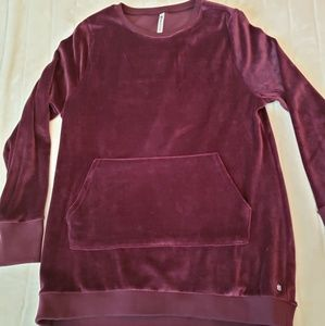 Fabletics velour sweatshirt- large-NWOT